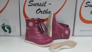 Сурсил-Орто (лечебная антивальгусная обувь) Ботинки Сапоги на утеплителе высокие берцы демисезон 55-155 Розовый
