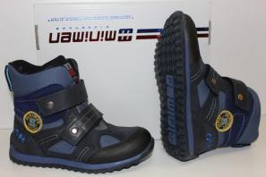 Минимен Ботинки-Сапоги демисезон 4000-01 Синий
