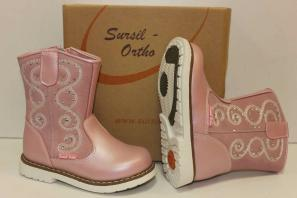 Сурсил-Орто (лечебная антивальгусная обувь) Ботинки Сапоги на байке демисезон высокие берцы 55-123-2 Розовый
